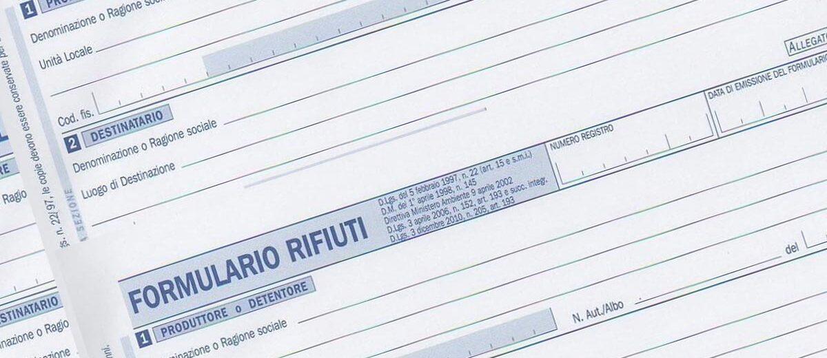come compilare formulario rifiuti