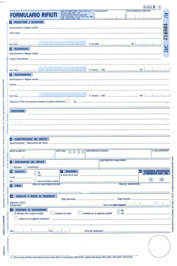 5 errori non commettere compilazione formulario rifiuti